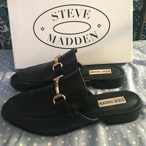 Steve Madden macrae Black leat